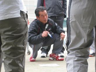 志村ヘッドコーチの熱い指導