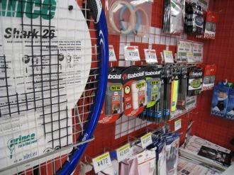 テニス用品の販売