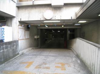 旧中原市民館駐車場入口