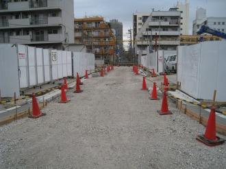 都市計画道路の整備 新丸子東3丁目地区A地区とB地区の間
