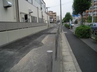 東京応化工業向かい側の拡幅用地