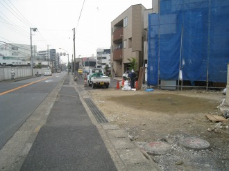 東京応化工業以南の拡幅用地