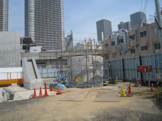 中原変電所地上部分の新しい建造物