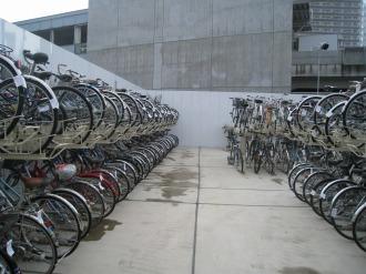 2段式の駐輪場