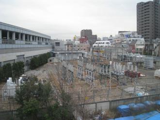 中原変電所地上部分(2009年1月)