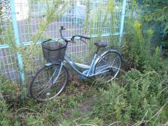 放置された自転車