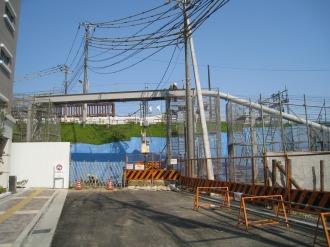上丸子跨線橋の仮管路(南側)