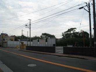 旧中原消防署跡地の臨時駐車場