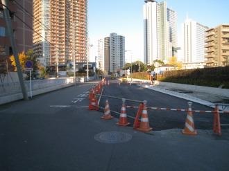 都市計画道路 武蔵小杉駅南口線の南端(府中街道側から)