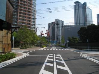 開通した都市計画道路 武蔵小杉駅南口線