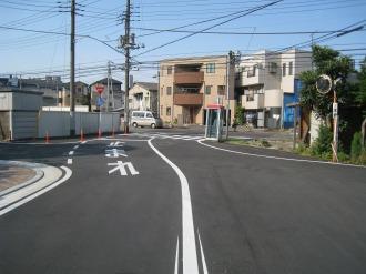 府中街道とのT字路