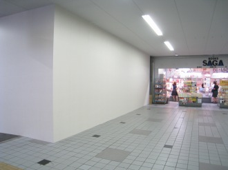 東急武蔵小杉駅構内の新店舗予定地