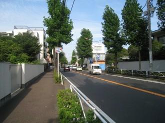 現代の中原街道(武蔵中原駅付近)