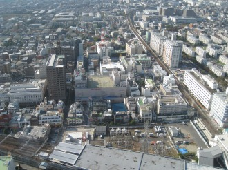 武蔵小杉駅西側の市街地