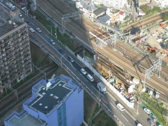 綱島街道拡幅および横須賀線武蔵小杉駅設置工事