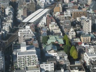 新丸子駅と京浜伏見稲荷神社