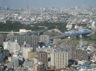 丸子橋と東京都内