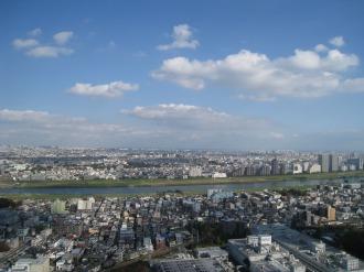 タワーから東(大田区方面)を望む