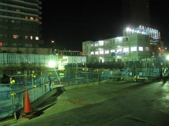 (仮称)武蔵小杉新駅前ビルの工事現場(南側)