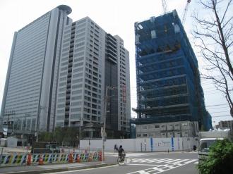 武蔵小杉新駅前ビル(北棟)とシティハウス武蔵小杉