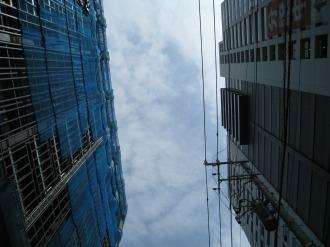 武蔵小杉新駅前ビルとシティハウス武蔵小杉の空