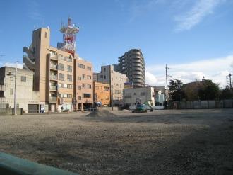 中原消防署旧庁舎跡地(二ヶ領用水側より)