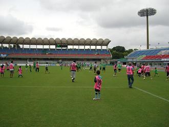 親子サッカーゲーム