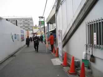 駅前の街頭演説