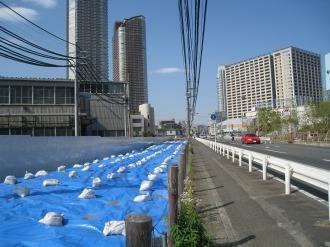 綱島街道拡幅用地(玉川第二工場前)