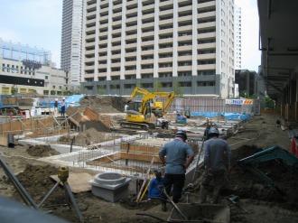 4階建て駐輪場の基礎