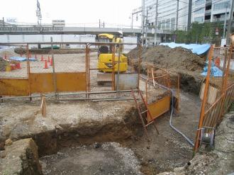 横須賀線武蔵小杉駅ロータリー工事(2009年8月上旬)